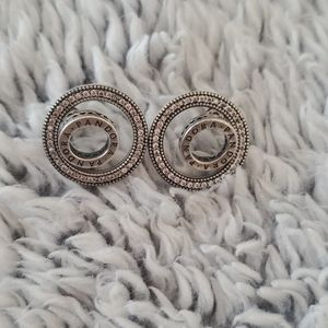Pandora double circle earrings